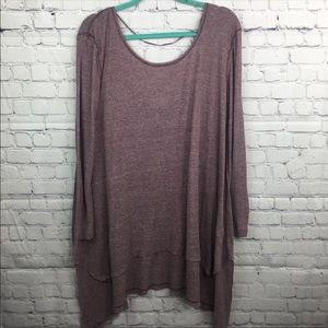 We The Free Deep V Back Thermal Knit Tunic Large